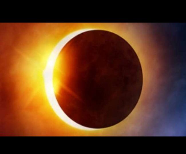 Solar eclipse seen in Jammu and Kashmir including Delhi, amazing view| khabarlazmi